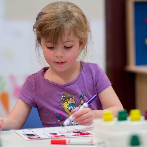 Special needs child at school, PUF Program, ECS Program